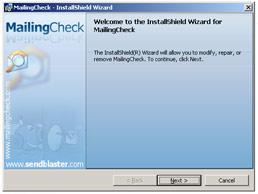 Spam check setup window